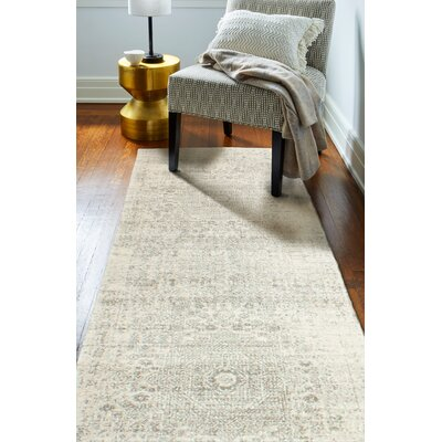 Arlingham Ivory/Silver Area Rug Rug Size: 36 x 56
