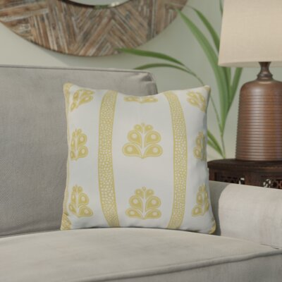 Charlotta Outdoor Throw Pillow Size: 18 H x 18 W x 3 D, Color: Yellow