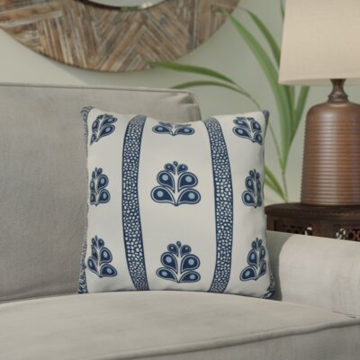 Charlotta Outdoor Throw Pillow Size: 18 H x 18 W x 3 D, Color: Navy Blue