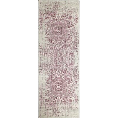Riggs Ivory/Fuchsia Area Rug Rug Size: Runner 26 x 8