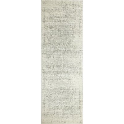 Riggs Ivory/Silver Area Rug Rug Size: Runner 26 x 8