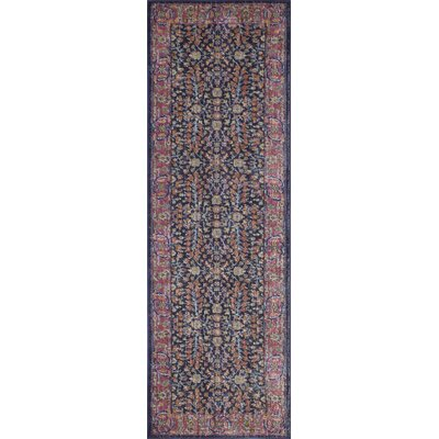 Ashburn Dark Blue Area Rug Rug Size: Runner 26 x 8