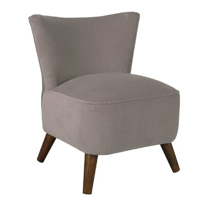 Crown Slipper Chair Upholstery: Regal Smoke