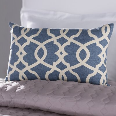 Brennan Cotton Lumbar Throw Pillow Color: Blue