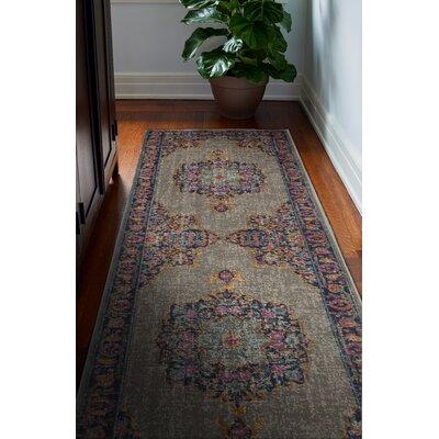 Ashburn Gray Area Rug Rug Size: 38 x 56
