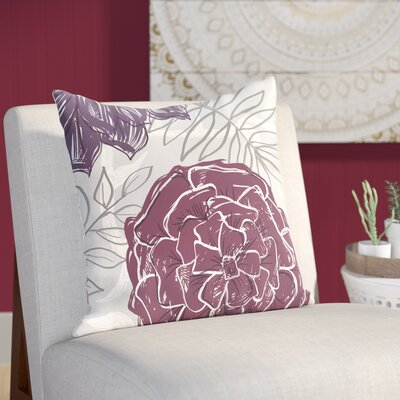 Emalina Throw Pillow Size: 26 H x 26 W, Color: Purple / Purple