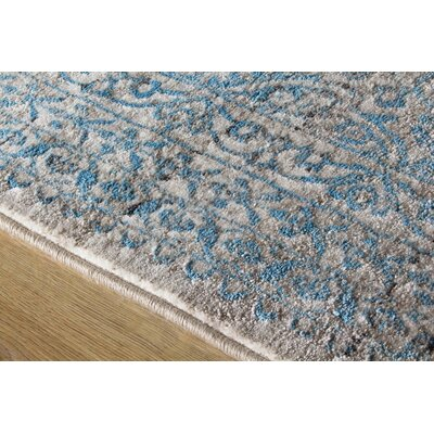 Billerica Gray/Blue Area Rug Rug Size: 710 x 1010