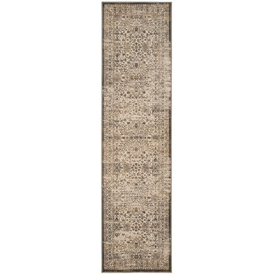 Gilbrae Cream/Bronze Area Rug Rug Size: Runner 22 x 8