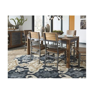 Charleroi Blue/Brown Area Rug Rug Size: 53 x 76
