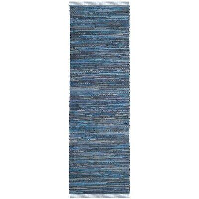 Naarden Hand-Woven Blue Area Rug Rug Size: Runner 23 x 8