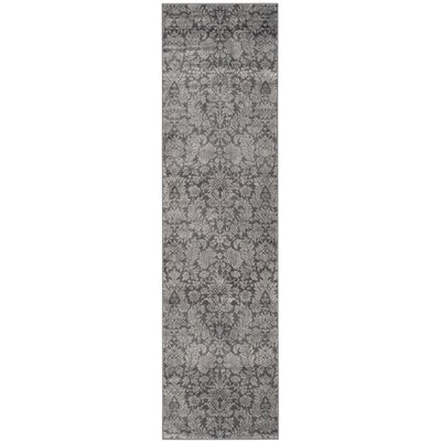Vishnu Dark Gray / Light Grey Area Rug Rug Size: Runner 22 x 8