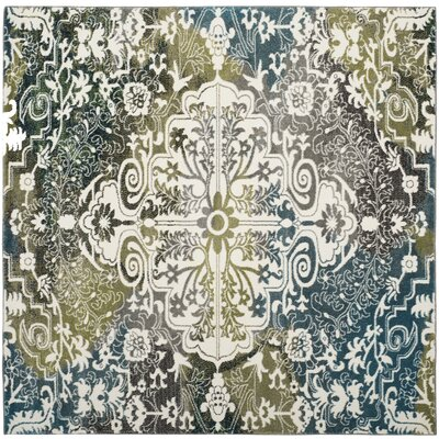 Sharmila Beige/Green Area Rug Rug Size: Square 67