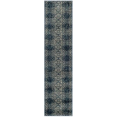 Ferry Royal/Ivory Area Rug Rug Size: Runner 2 x 8