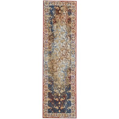 Mcknight Beige/Red Area Rug Rug Size: Runner 22 x 76