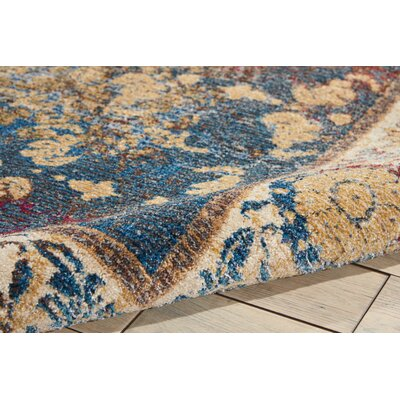 Mcknight Beige/Red Area Rug Rug Size: Rectangle 93 x 129