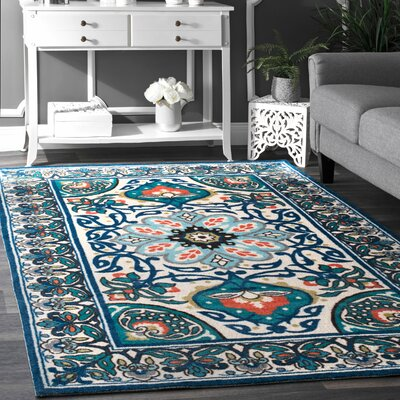 Kujawa Blue Area Rug Rug Size: Rectangle 2' x 3'