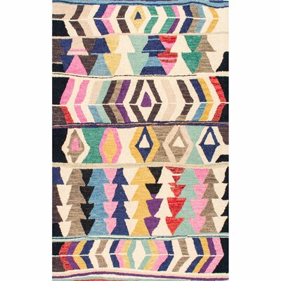 Foti Hand-Tufted Area Rug Rug Size: Rectangle 76 x 96