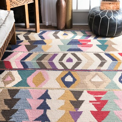 Foti Hand-Tufted Area Rug Rug Size: Rectangle 9 6 x 13 6