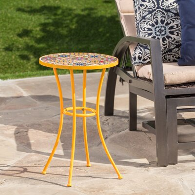 Chantel Outdoor Ceramic Tile Side Table