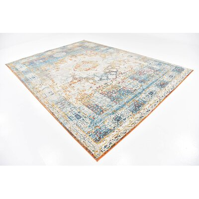 Hartell Beige Area Rug Rug Size: 9 x 12