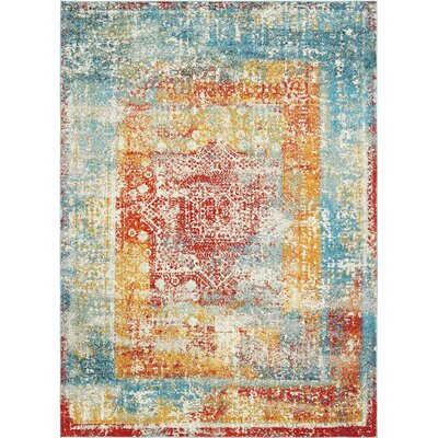 Hartell Blue Area Rug Rug Size: Rectangle 9 x 12