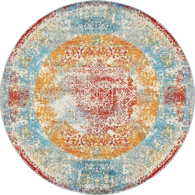 Hartell Turkish Area Rug Rug Size: Round 8