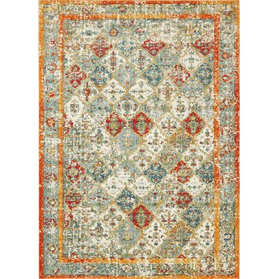 Hartell Stain Resistant Beige Area Rug Rug Size: 9 x 12