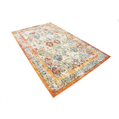 Hartell Stain Resistant Beige Area Rug Rug Size: 5 x 8