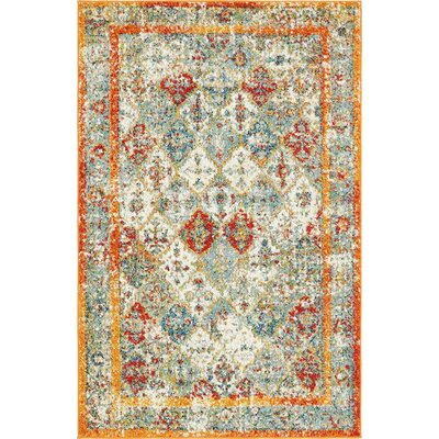 Hartell Stain Resistant Beige Area Rug Rug Size: 4 x 6