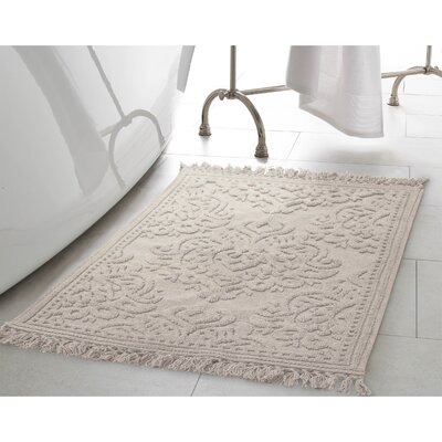 Garceau Cotton Fringe 2 Piece Bath Rug Set Color: Light Gray