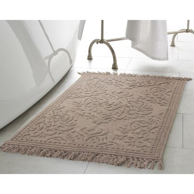 Angelena Cotton Fringe 2 Piece Bath Rug Set Color: Linen