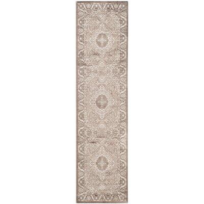Vishnu Beige / Brown Rug Rug Size: 51 x 76