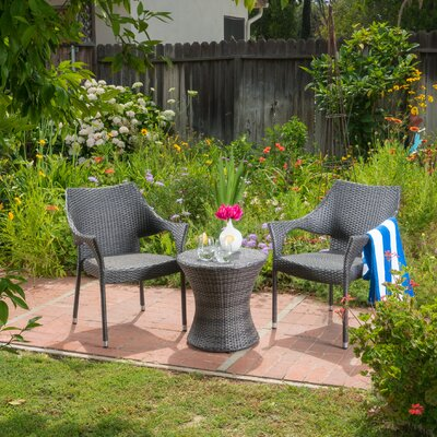 Birkenshaw Outdoor 3 Piece Rattan Sofa Set