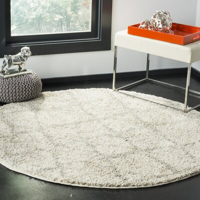 Zettie Cream/Light Gray Area Rug Rug Size: 51 x 76