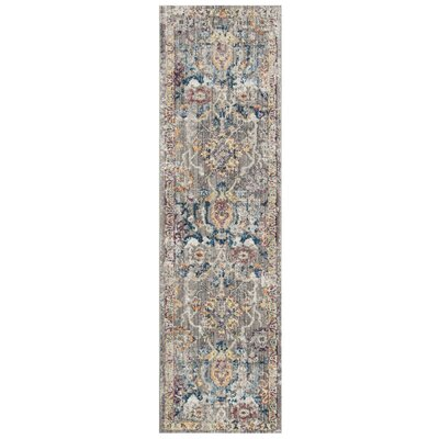 Hailey Gray/Blue Area Rug Rug Size: Rectangle 51 x 76