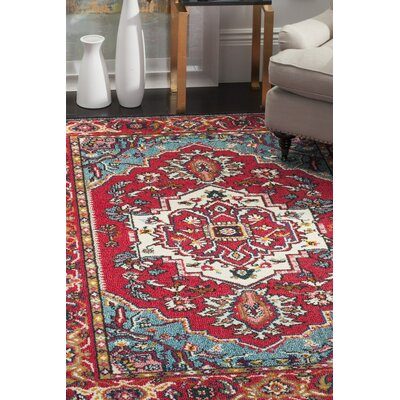 Chana Red Area Rug Rug Size: Square 5