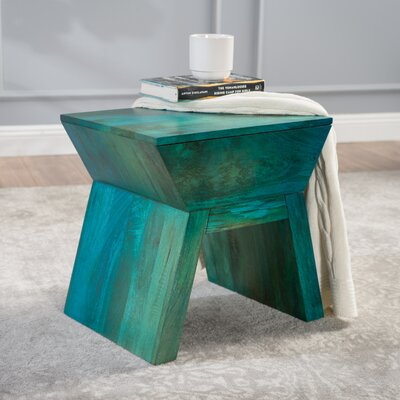 Chamberlin Wood Accent Stool Color: Blue