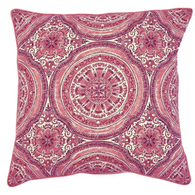 Barnstable Cotton Throw Pillow Color: Coral