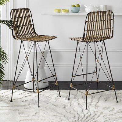 Marleigh 29.5 Bar Stool Finish: Natural Brown Wash