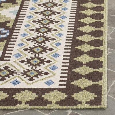 Zahr Chocolate Indoor/Outdoor Area Rug Rug Size: Rectangle 53 x 77