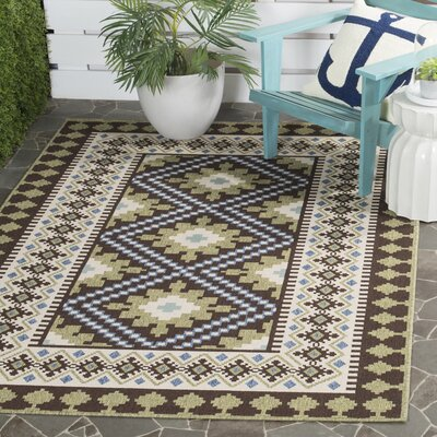 Zahr Chocolate Indoor/Outdoor Area Rug Rug Size: Rectangle 53 x 77