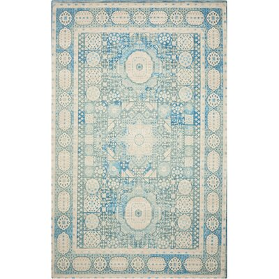 Union Point Teal Area Rug Rug Size: 5 x 7