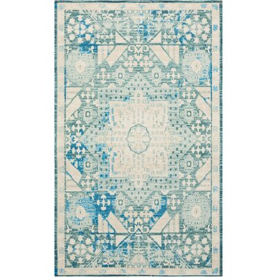 Union Point Teal Area Rug Rug Size: 23 x 39
