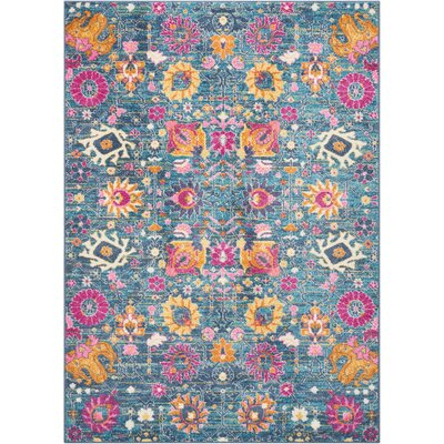 Bethesda Denim Indoor Area Rug Rug Size: 53 x 73