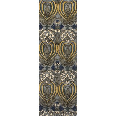 Demarcus Hand-Tufted Grey Area Rug Rug Size: Runner 26 x 8
