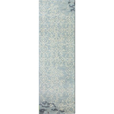 Flori Hand-Tufted Blue Area Rug Rug Size: Runner 26 x 8