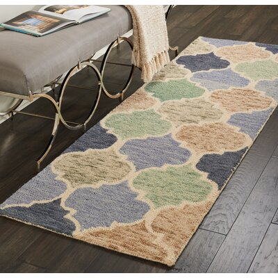 Beckman Hand Tufted Wool Blue/Ivory Area Rug Rug Size: Runner 23 x 76