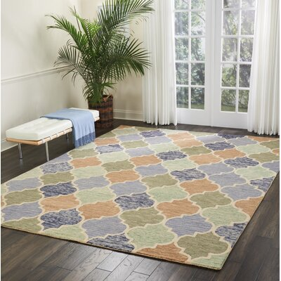 Beckman Hand Tufted Wool Blue/Ivory Area Rug Rug Size: Rectangle 8 x 106