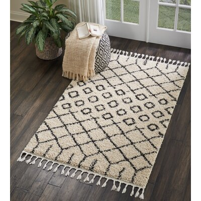 Beaulah Geometric Shag Cream Area Rug Rug Size: Rectangle 311 x 67