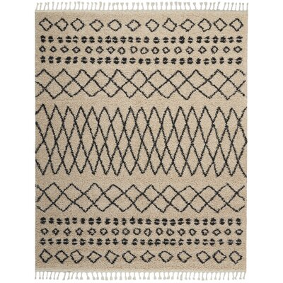 Beaulah Shag Cream Area Rug Rug Size: Rectangle 710 x 106